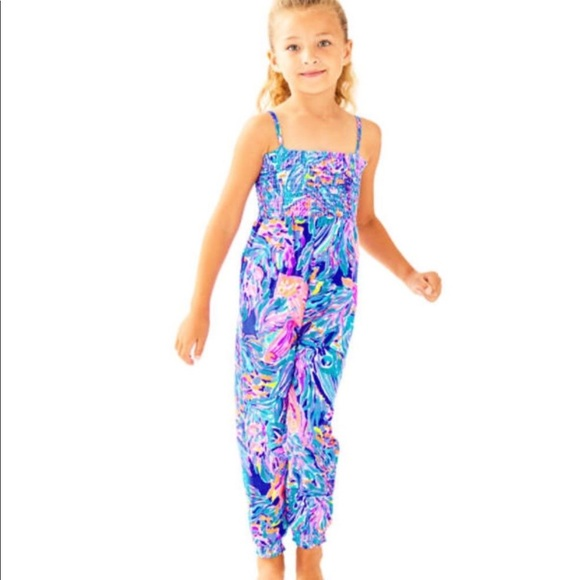 bf8452ed1e3 Lilly Pulitzer kids Jenna jumpsuit seas the day